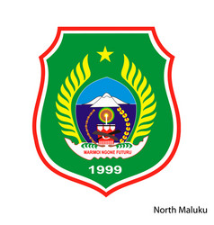 Coat arms north maluku is a indonesian vector