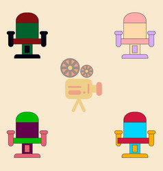 Collection in flat style movie vector