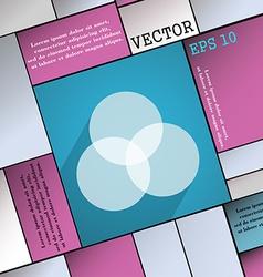 Color scheme icon symbol Flat modern web design vector