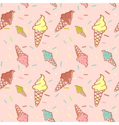 Colorful melting ice-cream seamless vector image