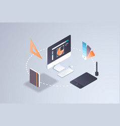 Creative graphic web design project concept vector