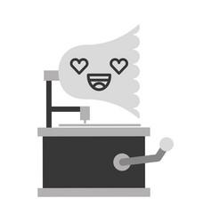 Cute lovely kawaii gramophone cartoon vector
