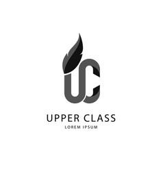 dark gray upper class logo vector image