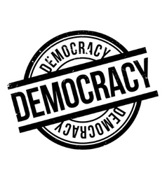 Democracy rubber stamp vector