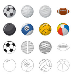 Design sport and ball symbol collection vector