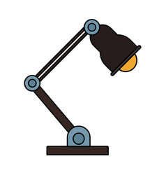 Desk light isolated vector