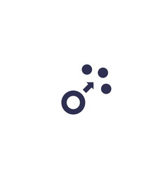 Dispersion icon vector