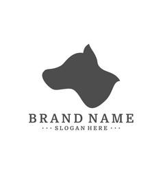 dog logo design template dog icon logo vector image