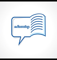 E-learning concept stock vector