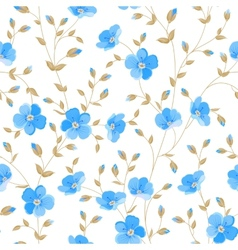 Field flowers wallpaper vector image