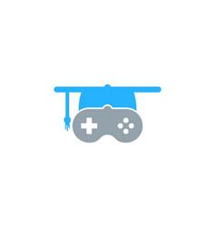 game education logo icon design vector image