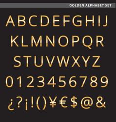 Golden alphabet set vector