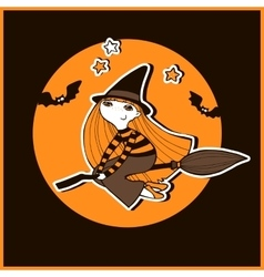 Halloween with witches vector