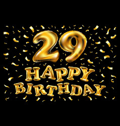happy birthday number 29 greeting card for twenty vector image