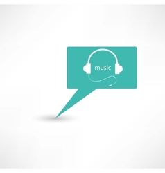 headphones in a bubble speech vector image