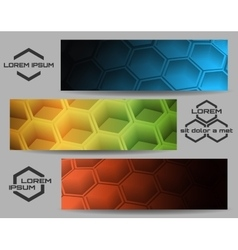 Hexagon Banner Set vector image
