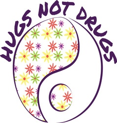 Hugs Not Drugs vector image