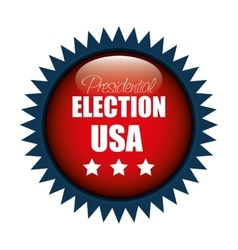 Icon button presidential election usa graphic vector