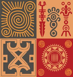 Indian ornament set vector