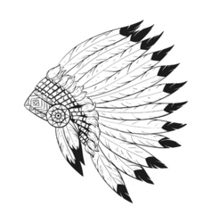 indian war bonnet vector image