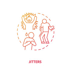 Jitters concept icon vector