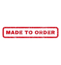 Made to order rubber stamp vector
