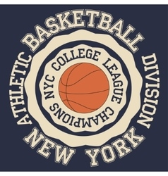 New york Brooklyn sport vector image
