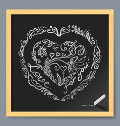 on chalkboard vector image