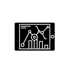 online statistics black icon sign on vector image
