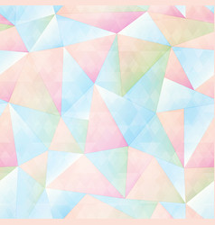 Pastel color triangle seamless pattern vector