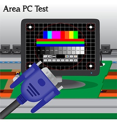 PC signal Test in Process Production Television of vector image