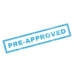 Pre-Approved Rubber Stamp vector