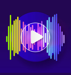 pulse music player audio colorful wave logo vector image