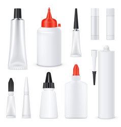 Realistic blank glue tubes set vector