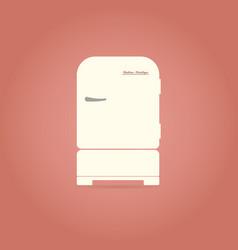 retro refrigerator flat icon vector image
