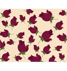 Roses pattern background vector image