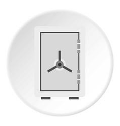 Safe icon circle vector