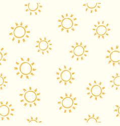 seamless sun pattern vector image