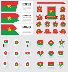 SET burkina faso vector image