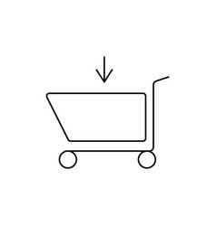 shopping caddie in vector image