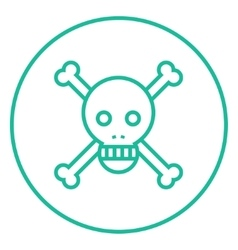Skull and cross bones line icon vector