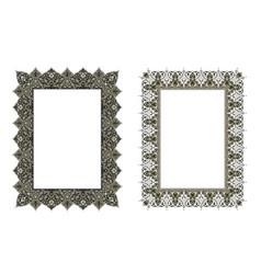 square elegant frame vector image