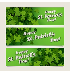 St patricks headers vector