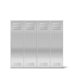 steel lockers high school or gym cabinets vector image