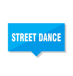 street dance price tag vector image