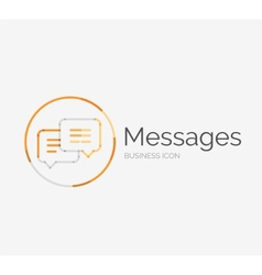 Thin line neat design logo messages concept vector