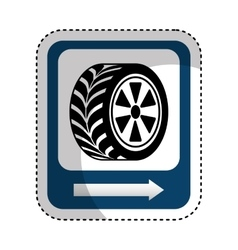 Traffic signal car tire location vector