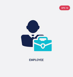 Two color employee icon from human resources vector