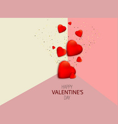 valentines day with red vector image