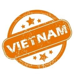 Vietnam grunge icon vector